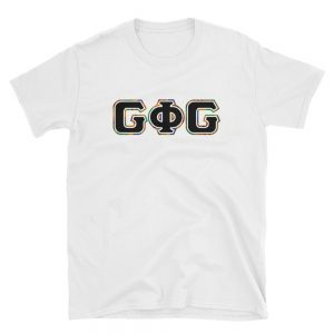 G Phi G Letters Kente Outline – Fitted Tee