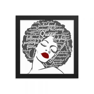 Afro Swing Word Cloud – Framed Poster
