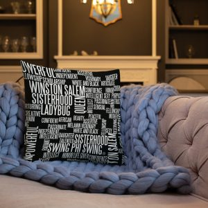 Swing Ladybug / Word Cloud – Throw Pillow