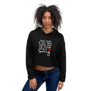 100% That Swing (ladybug) – Crop Hoodie